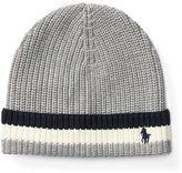 Ralph Lauren 2-7 Striped-Brim Ribbed Cotton Hat