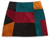 Ella Moss Girls' Faux Suede Patchwork Skirt - Sizes 7-14
