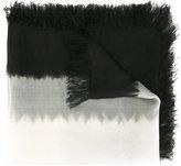 Suzusan - frayed edge scarf - women - Silk - One Size