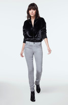 J Brand 815 Mid-Rise Super Skinny in Coated Silver Spoon