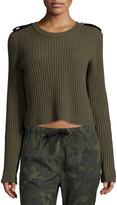 Rag & Bone Tara Ribbed Pullover, Army Green