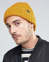 Ps By Paul Smith Wool Ribbed Beanie In Yellow