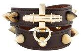 Givenchy Obsedia Horn Studded Wrap Bracelet