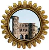 GiftJewelryShop Ancient Style Gold-plated Porta Nigra UNESCO World Heritage Site Sunflower Pins Brooch