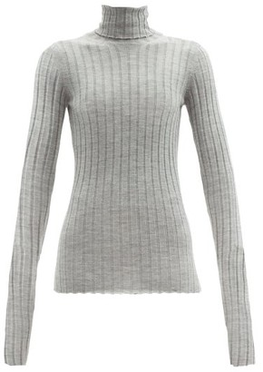 Petar Petrov Karen Roll-neck Merino-wool Sweater - Grey