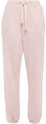 Zoe Karssen Printed French Cotton-blend Terry Track Pants