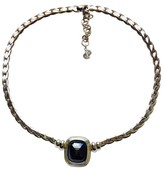 Christian Dior Gray Stone Statement Necklace