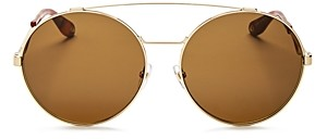 Givenchy Women's Double Brow Bar Oversized Round Sunglasses, 60mm