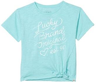 Lucky Brand Kids Serita Tee (Big Kids) (Aqua Sky) Girl's Clothing