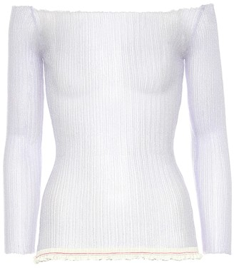 Jacquemus La Maille Estello ribbed-knit top