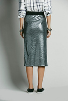 Free People Disco Sequin Pencil Skirt