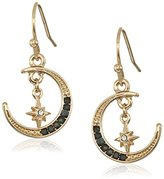 Jessica Simpson Crescent Moon and Star Drop Earrings