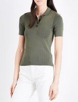 Claudie Pierlot Fitted polo-collar top