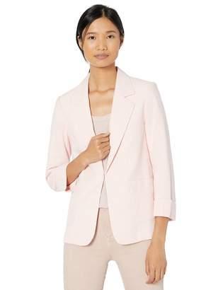 Tahari ASL Women's Easy Notch Collar Jacket with Patch PKTS