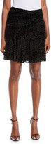 A.L.C. Corey Animal-Print Velvet Burnout Skirt