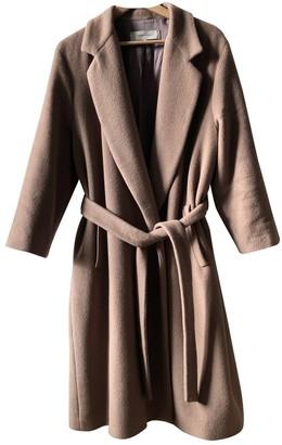 Gerard Darel Camel Wool Coat for Women