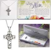 Cross Dear Mom Floral Necklace