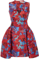 Mary Katrantzou Silk Blend Floral Chara Mini Dress