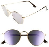 Ray-Ban Women's Icons 50Mm Round Sunglasses - Lilac