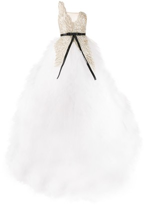 Loulou beaded tulle full gown