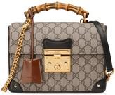 Gucci Padlock GG small bamboo shoulder bag