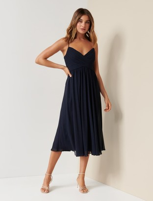 Forever New Phoebe Prom Midi Dress - Navy - 10