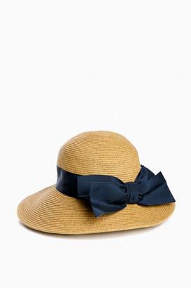 Toucan Hats Cream Packable Wide Bow Sunhat