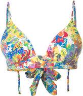 Stella McCartney floral print plunge bikini top