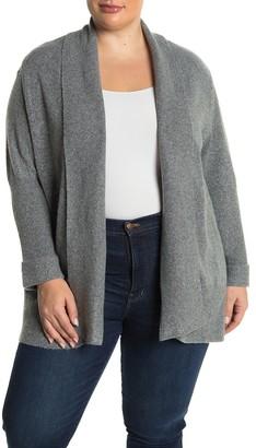 Democracy Shawl Collar Knit Cardigan (Plus Size)