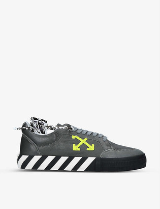 Off-White Vulcanized leather low-top trainers