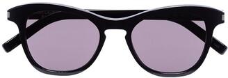 Saint Laurent Havana round lens sunglasses