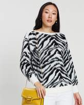Dorothy Perkins Brushed Zebra Print Jumper