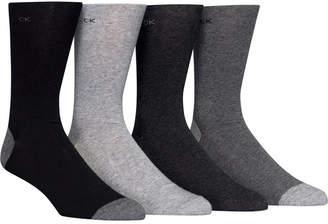 Calvin Klein Men Heel Toe Socks 4-Pack