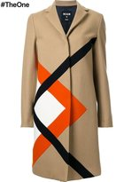MSGM graphic single breasted coat - women - Polyamide/Wool - 42