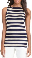 Lauren Ralph Lauren Metallic Stripe Top