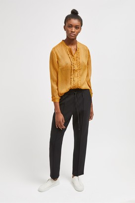 French Connection Caressa Crinkle Printed Georgette Shirt