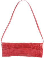 Nancy Gonzalez Crocodile Clutch w/ Strap