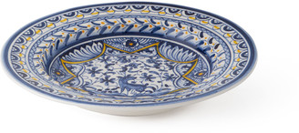 Neiman Marcus Blue & Yellow Dinnerware Soup/Pasta Bowls, Set of 4