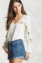 Forever 21 FOREVER 21+ Tasseled Peasant Top