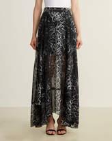 Religion Leopard Print Sheer Skirt