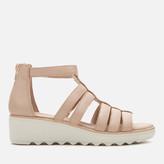 Clarks Women's Jilian Nina Leather Wedged Sandals