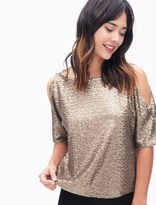 Splendid Cold Shoulder Sequin Top