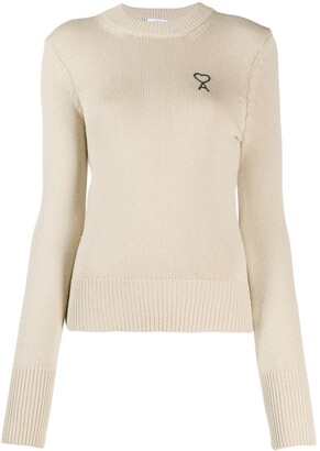 AMI Paris Ami de Coeur crew neck jumper
