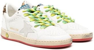 Golden Goose Kids Low Top Star Patch Sneakers