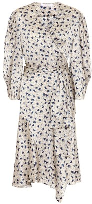 Chloé Floral silk-satin wrap dress