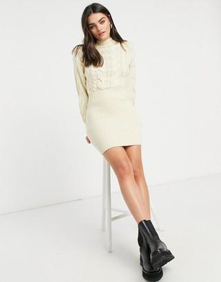 Skylar Rose cable knit high neck jumper dress