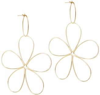 Amorcito Gold Space Flower Earrings