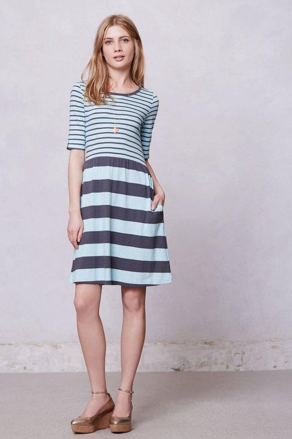 Anthropologie Harper Striped Day Dress