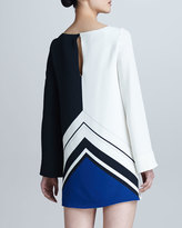 Emilio Pucci Jazz-Print Silk Dress