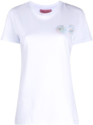 Chiara Ferragni embroidered logo T-shirt